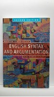 Afbeelding van English Syntax And Argumentation