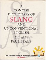 Afbeelding van A concise dictionary of Slang and unconventional english